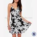 oem de fabricación de moda de verano estampado floral de lujo vestidos para niñas
