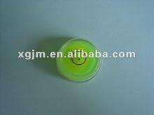 PMMA bull eyes bubble level, circular level vial,circular, square vial,Gradienter level bubbles
