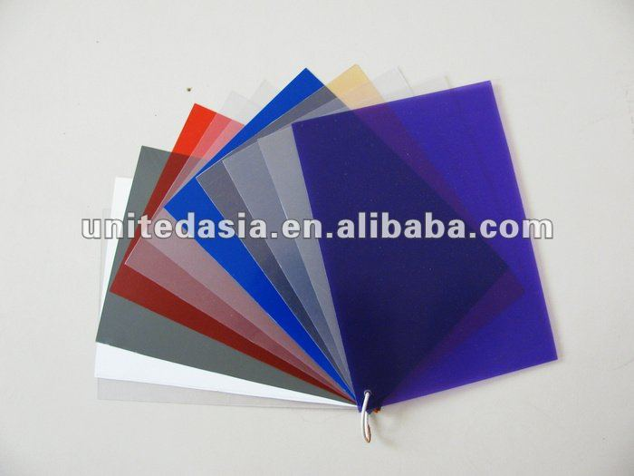 Colored transparent PVC Sheet