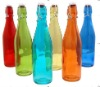 color juice glass bottle with lid
