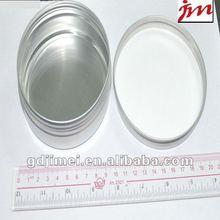 empty box aluminum round tea can