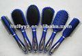 2014 caliente venta de plástico azul azul cepillo para el cabello peines