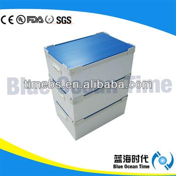 Corrugated plastic storage box