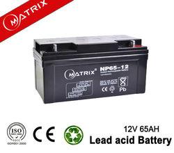 12v 65ah Sealed ups battery general security battery