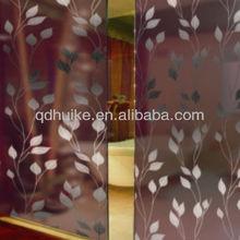 6mm 8mm bronze tinted golden leaves titanium sliding door glass