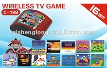 16 Bit wireless tv game console,wireless Games, Plug and Play, 101 in 1
