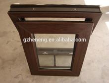 Guangzhou pvc awning window/wood color PVC window/pvc top hung window