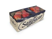 Foldable fruit carton box for apple and orange/la manzana y naranja caja