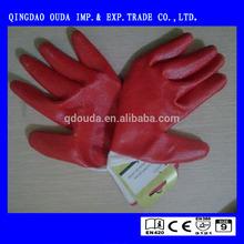 SRSAFETY 13G Knitted nylon Liner Dipping Nitrile Gloves/Work Safety EN 374 & EN 388 tested Geen Nitrile Chemical Resistant Glove