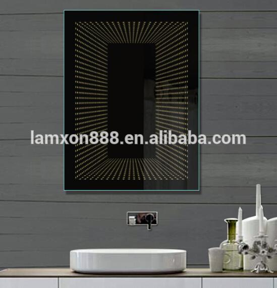 Hotel moderno decorativi portato infinito specchio del bagno con ...
