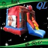 Spiderman inflatable bouncy castles with slide for kids party rental indoor