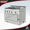 Four Burner Gas Restaurant Cook Range(INEO are professional on commercial kitchen project)