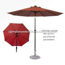 Led garden umbrella/led patio umbrella/led outdoor umbrella
