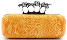Fashion skull 4 ring clutch bag for lady / women