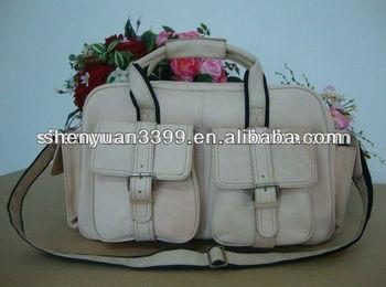 Handbag factory fashion men leather travel bag