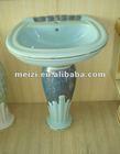 decorated pedestal shower basin