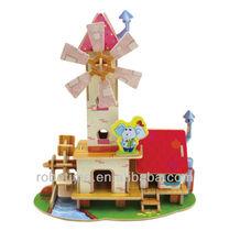 Robotime DIY Wooden 3D Puzzle toy- House model with FSC