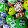 Mixed rubber bouncing ball