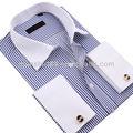 lusso di uomini camicia uniforme con diversi bianco colletto bianco e polsini doppio