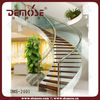 interior curved glass wood stairs/staircase