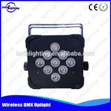 3W RGB 3in1 Wireless DMX LED Flat Par 9 LED up lighters