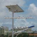 luz de calle solar con el poste