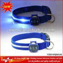 Nylon webbing flash LED dog collar & leash