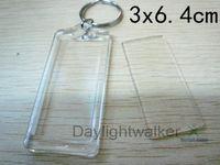 Promotional bulk photo frame Acrylic blank keychain (DW-5126)