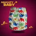 De dibujos animadosimpreso bebé travieso bebé moderno de bolsillo de tela del pañal/tela del pañal
