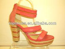 2014 Lady Shoes Wide Heel Fashion High Heel Woman Shoes