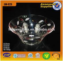 Wide mouth color tableware lawn bowls fruit bowl