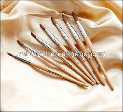2014 factory wholesale disposable kolinsky hair acrylic nail brush nail gel brush