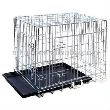 "24"" 30"" 36"" 42"" 48"" Large Outdoor Metal Dog Cage, Metal Pet Cage"