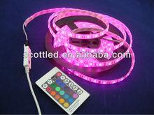 drop glue rgb 5050 flexible led strip + ir rgb strip remote controller