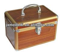 New Professional Durable Wood Aluminum Cosmetic case