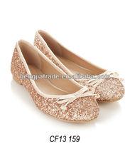 fashion women glitter ballerina shoe