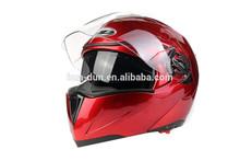 HuaDun dual visor flip up helmet, motor helmet HD-701