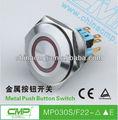 Cmp illuminé. commutateur de bouton poussoir lumière d'anneau de led bouton poussoir telemecanique