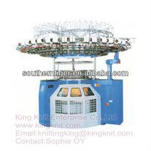 computerized circular knitting machine with lycra
