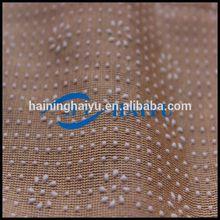 anti-slip plastic dot on shine yarn knit fabric for Car Mat/brush/embossed