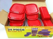 24 PCS set variety size plastic food container BPA Free