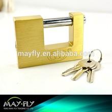 Tri-Circle rectangular brass padlock (BX940-BX990)