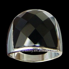 Wholesale Only high quality solid sterling 925 silver jewelry big square onyx silver ring jewelry Lead free, nickel free
