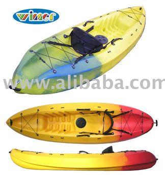 plastic Kayak, sea kayak, single sit on top kayak, 1 person kayak