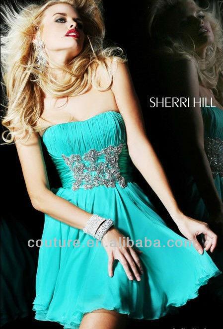 Young Girls Sweetheart Sleeveless Chiffon cocktail dress Blush