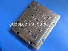 Stainless Steel Metal Keypad for Bank ATM