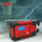 Solar LED Flashlight AM/FM/WB Weather band radio