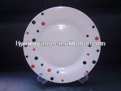 Promotional ceramic flat plate,porcelain plates dishes