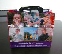 full color printing reusable PP Woven laminated Shopping Bag