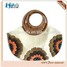 HIFA Paper Straw Handbag Embroidery Tote Bag